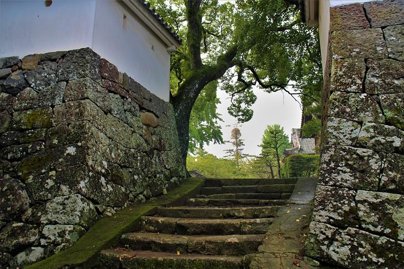 搦手門跡(北側)