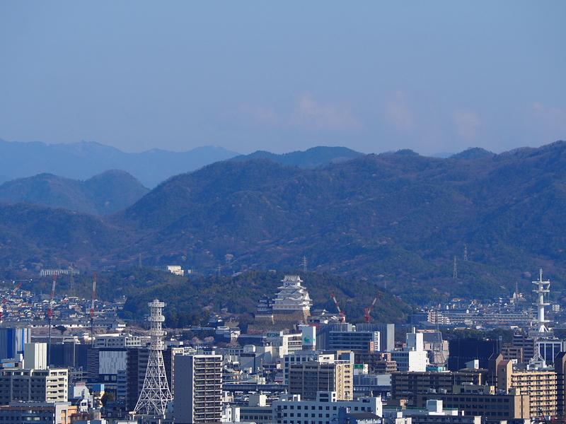 本丸から見る姫路城