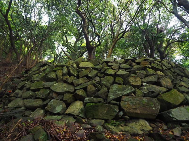 井戸周辺の石垣