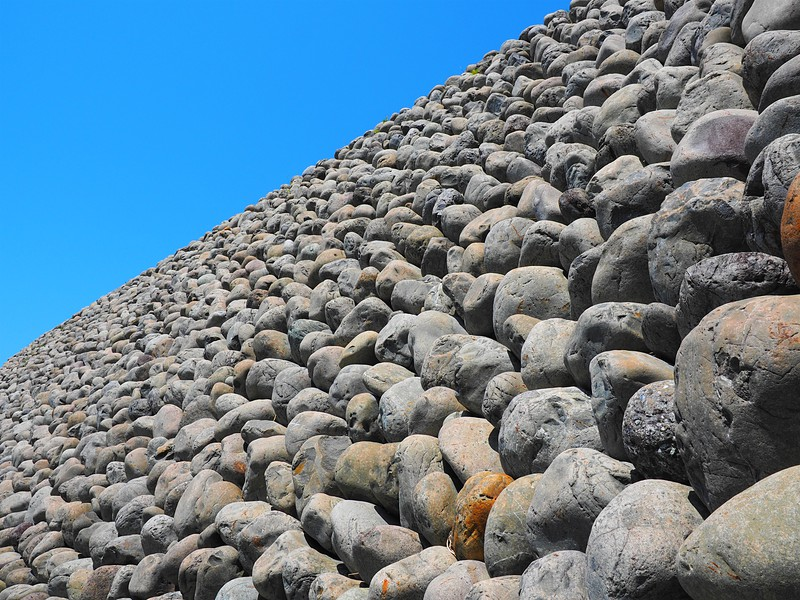 玉石垣の壁[横須賀城]