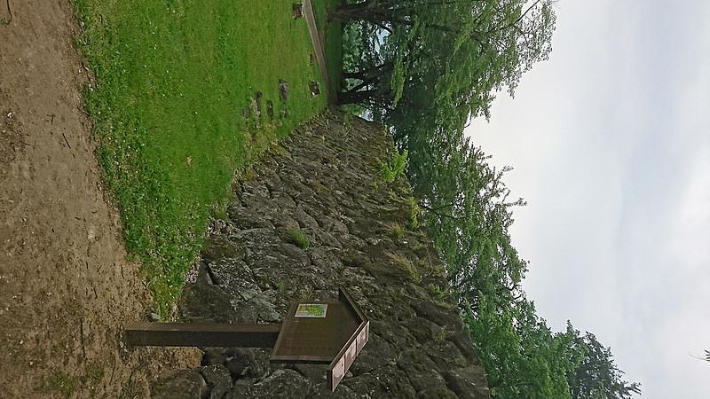 二の丸から見た本丸石垣