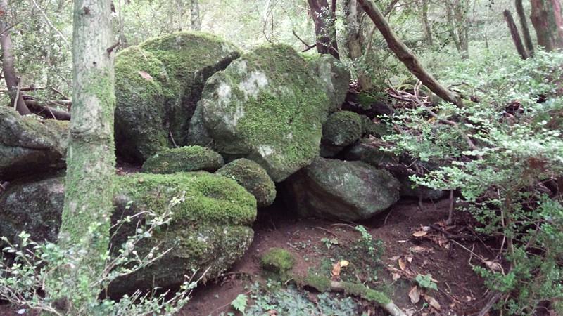 古処山城 石積み