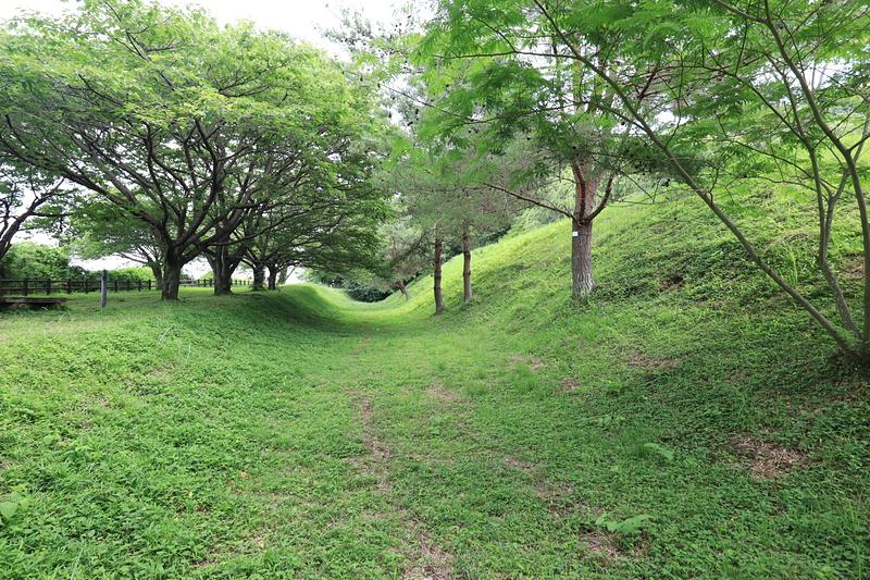 本丸北側の空堀