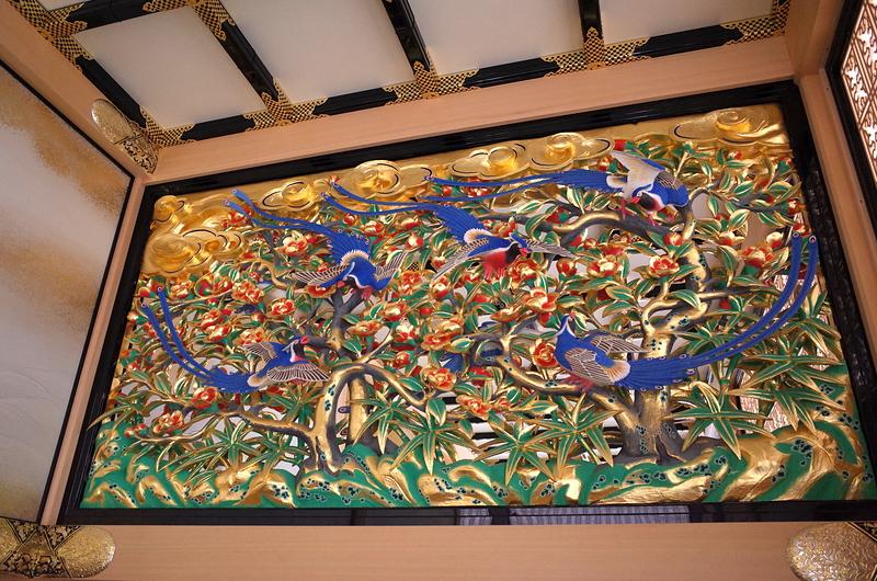 本丸御殿上洛殿の欄間彫刻