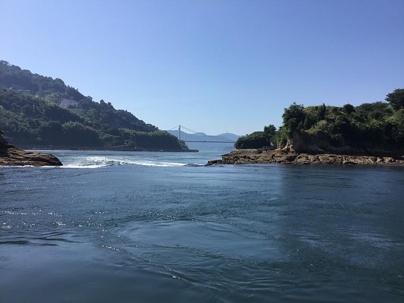 能島と鯛崎島間の潮流