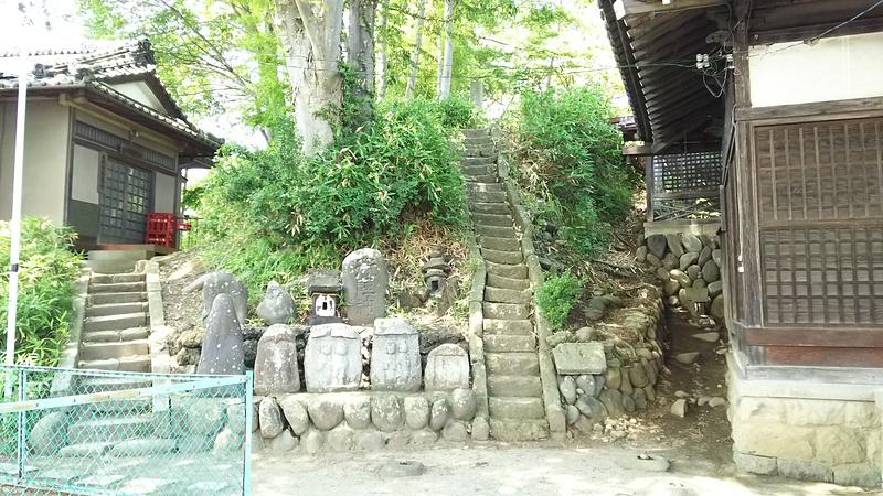 大伴神社横土塁(南西側)
