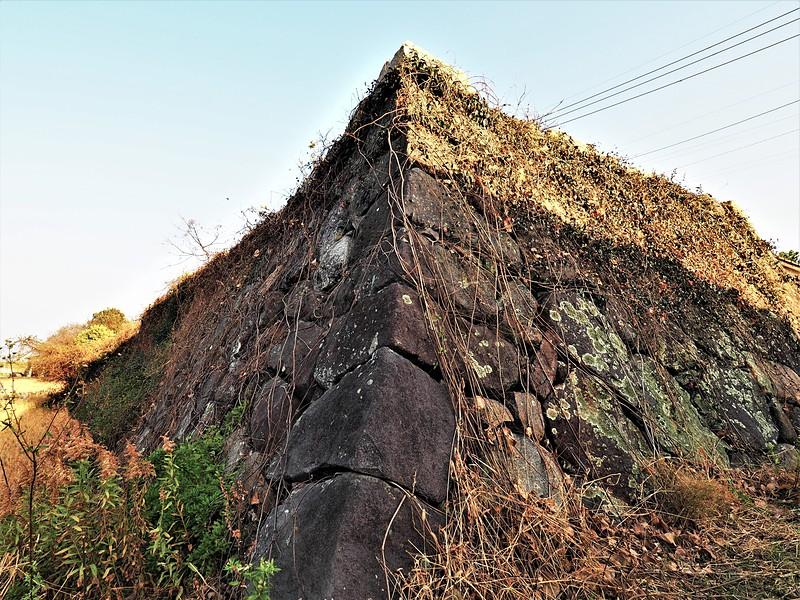 石垣・西門跡(33.605328, 131.182502)