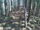 二本松峠にある鞍骨城の道標…