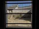 筬(おさ)格子窓からの眺め…
