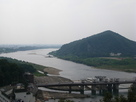 天守からの風景 木曽川2…