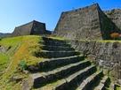 追手門階段から本丸枡形の石垣…