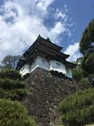 富士見櫓と石垣と松と青空…