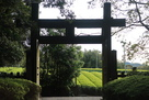 大手門とお茶畑…