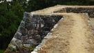 石垣の横矢部分…