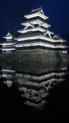 ライトアップされた松本城