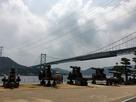 城址周辺「長州藩砲台と関門橋」…