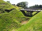 二の丸橋と畝堀…