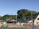 駐車場から曲輪のあった千葉大学方面を見通…