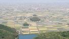 肥前犬山城展望台から見た須古城と支城…