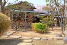 三の丸 御茶室「鷺庵(ろあん)」門前より…