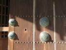 鯱の門門扉に残る佐賀の乱時の銃弾跡…