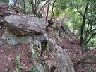 巨大石材の石垣…