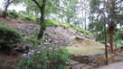 関東大震災で滑り落ちた石垣…