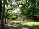 棒庵坂登り口付近の石垣…