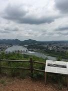展望台からの見下ろす犬山城…