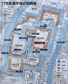 加納城 縄張り図…