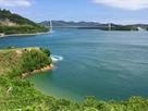 本丸跡から望む伯方・大島大橋