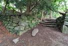 材木櫓跡近くの石垣…
