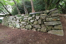 西三の丸 中段への石垣…