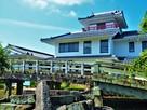 濠跡に架かる天川橋と御着城(姫路市東出張…