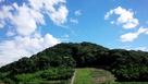 古墳から見る山隈城…