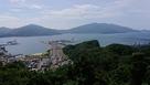 展望台からの金ヶ崎城…