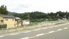 国道19号線から見た牧之島城跡…