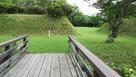 本丸、二の丸間の枡形と木橋…