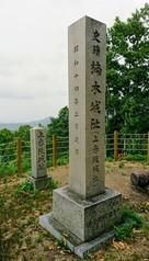 山頂に有る城跡石碑…