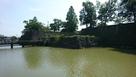 欄干橋辺りの掘と石垣…