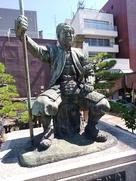 柴田勝家公の像…