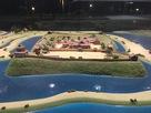 勝幡駅前の勝幡城推定復元模型…