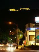 城跡ライトアップ(久米町交差点付近から)…