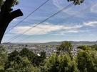 登山道中腹からの景色…