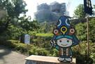加藤神社から。再建工事中…