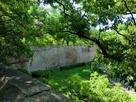 櫓台上から見た京橋口枡型の巨石…