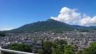 天守最上階から見た雲仙岳…