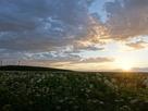 夕日に染まるノツカマフチャシ跡…