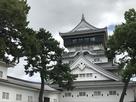 小倉城天守 本丸側から…