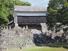 熊本城石碑と馬具櫓…